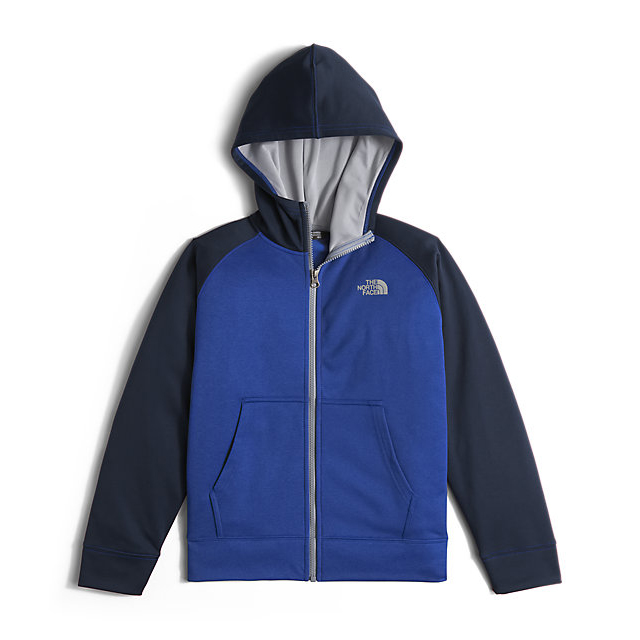 CHEAP NORTH FACE BOYS' SURGENT FULL ZIP HOODIE HONOR BLUE HEATHER ONLINE