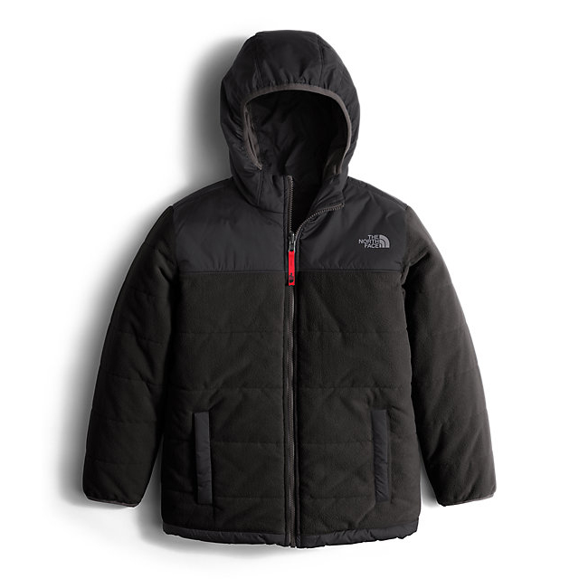 CHEAP NORTH FACE BOYS' REVERSIBLE TRUE OR FALSE JACKET BLACK ONLINE