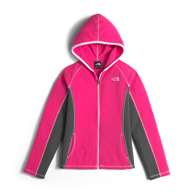 CHEAP NORTH FACE GIRLS' GLACIER FULL ZIP HOODIE CABARET PINK ONLINE
