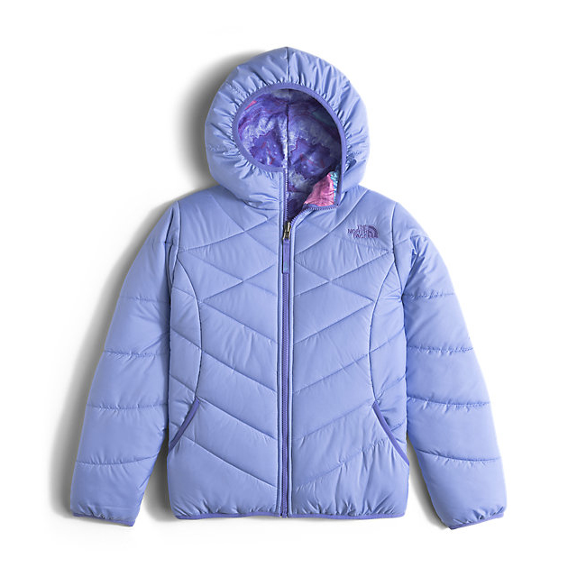 CHEAP NORTH FACE GIRLS' REVERSIBLE PERRITO JACKET GRAPEMIST BLUE ONLINE