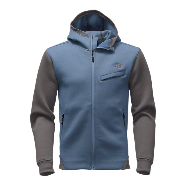 CHEAP NORTH FACE MEN'S THERMAL 3D FULL ZIP HOODIE SHADY BLUE BLACK HEATHER ONLINE