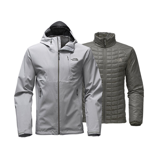 CHEAP NORTH FACE MEN'S THERMOBALL TRICLIMATE JACKET LIGHT GREY HEATHER ONLINE