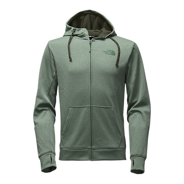 CHEAP NORTH FACE MEN'S SURGENT LFC FULL ZIP HOODIE DUCK GREEN LIGHT HEATHER (STD)/ROSIN GREEN ONLINE