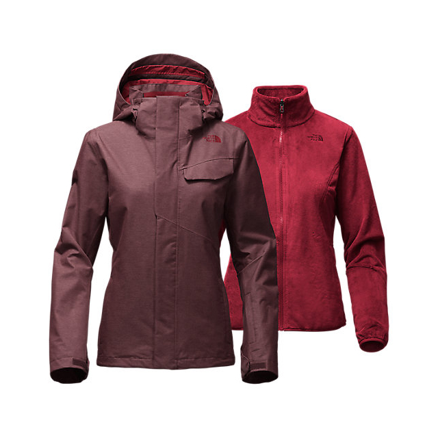 CHEAP NORTH FACE WOMEN'S HELATA TRICLIMATE  JACKET DEEP GARNET RED ONLINE