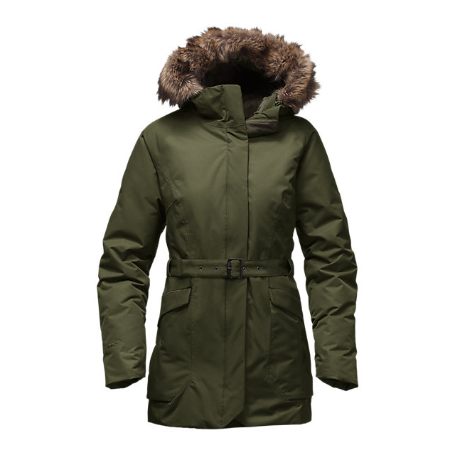CHEAP NORTH FACE WOMEN'S CAYSEN PARKA ROSIN GREEN ONLINE