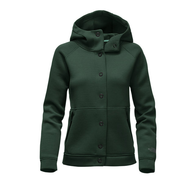 CHEAP NORTH FACE WOMEN'S THERMAL 3D SNAP HOODIE SCARAB GREEN BLACK HEATHER ONLINE