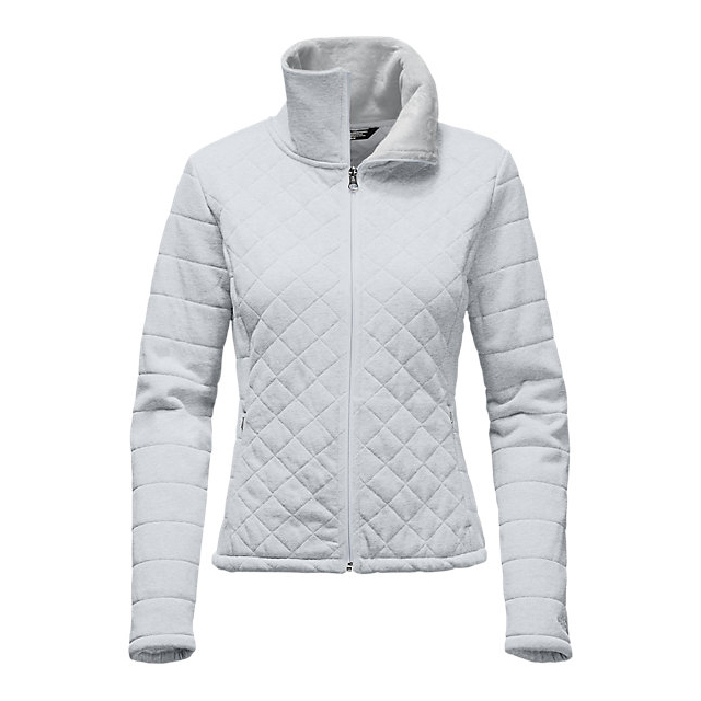 CHEAP NORTH FACE WOMEN'S CAROLUNA CROP JACKET LIGHT GREY HEATHER ONLINE