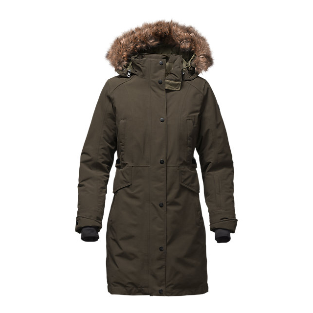 CHEAP NORTH FACE WOMEN'S TREMAYA PARKA ROSIN GREEN ONLINE