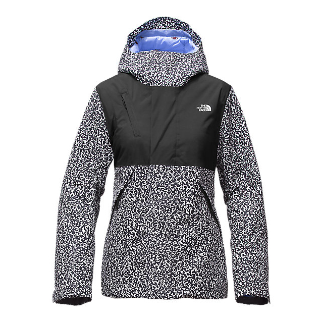 CHEAP NORTH FACE WOMEN'S CONNECTOR JACKET BLACK WHITEOUT PRINT/BLACK ONLINE