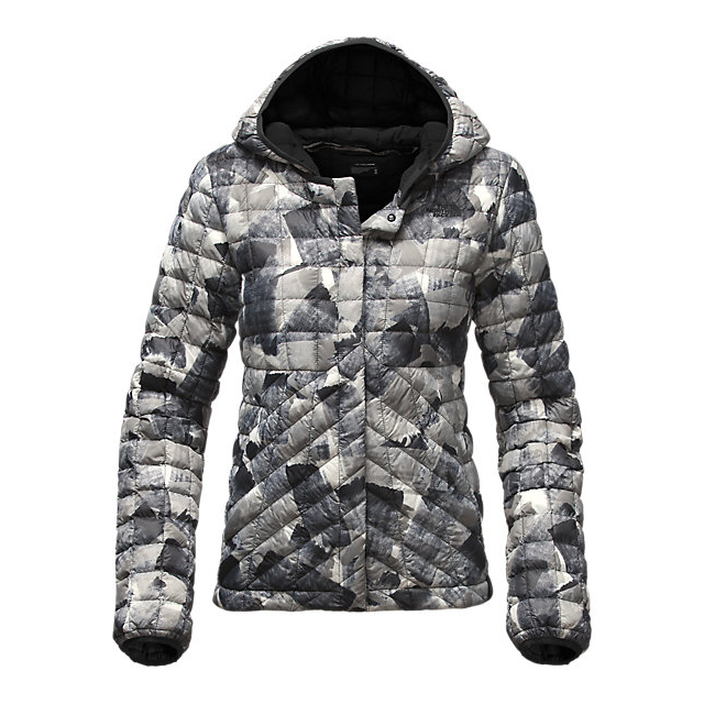CHEAP NORTH FACE WOMEN'S THERMOBALL CARDIGAN BLACK SWASHED PRINT ONLINE