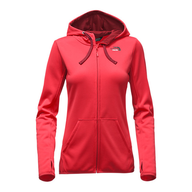 CHEAP NORTH FACE WOMEN'S FAVE LFC FULL ZIP HOODIE MELON RED/BIKING RED MULTI ONLINE