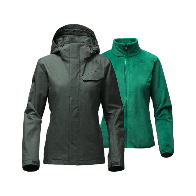 CHEAP NORTH FACE WOMEN'S HELATA TRICLIMATE  JACKET DARKEST SPRUCE ONLINE
