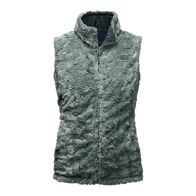 CHEAP NORTH FACE WOMEN\'S MOSSBUD SWIRL REVERSIBLE VEST DARKEST SPRUCE/BALSAM GREEN ONLINE